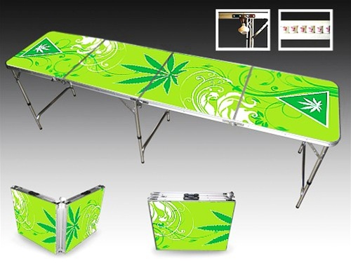 Marijuana beer pong table